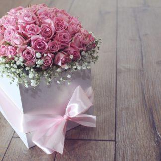 Flower arrangement in box